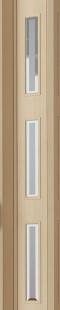 Falttür Luciana esche holzfarben in 3-D-Optik, mit 3 Cristall-Fensterreihen, BxH 88,5x202 cm