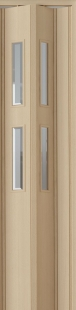 Zusatzlamelle (1 Stück) für Falttür Luci, esche holzfb., 3-D-Druck, 2 Fensterreihen Cristall, BxH 15,5 x 202 cm
