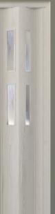 Zusatzlamelle (1 Stück) für Falttür Luci, eiche weiß, 3-D-Druck, 2 Fensterreihen, BxH 15,5 x 202 cm