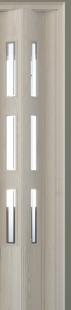 Zusatzlamelle (1 Stück) für Falttür Luci, eiche weiß, 3-D-Druck, 3 Fensterreihen Cristall, BxH 15,5 x 202 cm