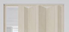 Falttür Franken, Volllamelle, grau-beige/Lärchefarben, 3-Druck, Schloss, BxH 83x214 cm