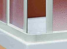 Duschkabine, Eckeinstieg, Stuttgart, Acryl-Glas | Kunststoff | weiss