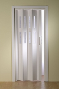 Falttür Luci mit 2 Fensterreihen, weiß, BxH 88,5x202 cm