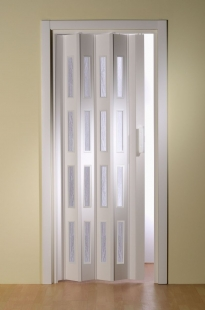 Falttür Luci mit 4 Fensterreihen, weiß, BxH 88,5x202 cm
