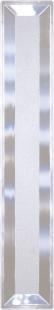 Falttür Luca, 3 Fensterreihen, Facette, weiß, mit Schloss, BxH 88,5x202 cm