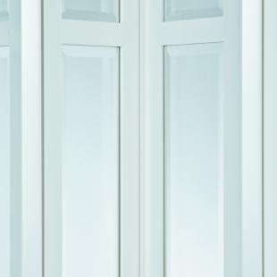 MARLEY Falttür President (037318) NewEdition mit Fenster facette weiss mit Schloss BxH 86x205 cm