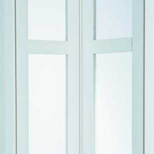 MARLEY Falttür President (037325) NewEdition mit Fenster satiniert weiss mit Schloss BxH 86x205 cm