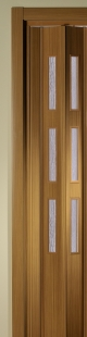 Zusatzlamelle für Falttür Luci buchefarben 3 Fensterreihen B 15,5 x H 202 cm