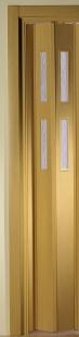 Zusatzlamelle für Falttür Luci eichefarben hell 2 Fensterreihen B 15,5 x H 202 cm