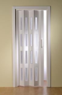 Falttür Luciana Höhe nach Maß 4 Fensterreihen weiß