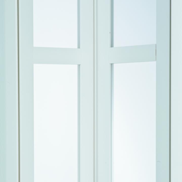 weiss mit Schloss Faltt/ür MARLEY President NewEdition mit Fenster satiniert B 86 x H 205 cm Fb