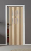 Falttür Luciana esche holzfarben in 3D-Optik, mit 2 Fensterreihen, B 88,5 x H 202 cm