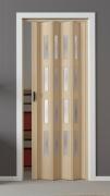 Falttür Luciana esche holzfarben in 3-D-Optik, mit 4 Fensterreihen, B 88,5 x H 202 cm