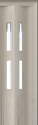 Zusatzlamelle (1 Stück) für Falttür Luci, eiche weiß, 3-D-Druck, 2 Fensterreihen Cristall, BxH 15,5 x 202 cm