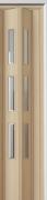 Zusatzlamelle (1 Stück) für Falttür Luci, esche holzfb., 3-D-Druck, 3 Fensterreihen Cristall, BxH 15,5 x 202 cm