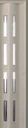 Zusatzlamelle (1 Stück) für Falttür Luci, eiche weiß, 3-D-Druck, 4 Fensterreihen Cristall, BxH 15,5 x 202 cm