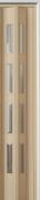 Zusatzlamelle (1 Stück) für Falttür Luci, esche holzfb., 3-D-Druck, 4 Fensterreihen Cristall, BxH 15,5 x 202 cm