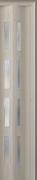 Zusatzlamelle (1 Stück) für Falttür Luci, eiche weiß, 3-D-Druck, 4 Fensterreihen, BxH 15,5 x 202 cm