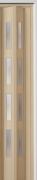Zusatzlamelle (1 Stück) für Falttür Luci, esche holzfb., 3-D-Druck, 4 Fensterreihen, BxH 15,5 x 202 cm