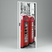 Falttür, Volllamelle mit Motivdruck London, BxH 89,5x214 cm