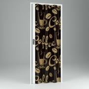 Falttür, Volllamelle mit Motivdruck Kaffee, BxH 89,5x214 cm