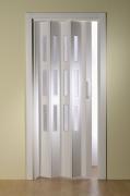Doppelfalttür Luci, mit 3 Fensterreihen, weiß, BxH 175x202 cm