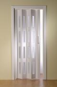 Doppelfalttür Luci, mit 4 Fensterreihen, weiß, BxH 175x202 cm