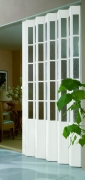Falttür nach Maß Farbe weiß | Massfalttür | Marley | Strukturglas