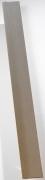 Grosfillex Zusatzlamelle für Falttür Spacy, Volllamelle, alufarben, BxH 14,5x205 cm