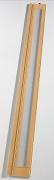Grosfillex Zusatzlamelle (76402A71) für Falttür Larya, Glaslamelle, eiche hell, BxH 14,5x205 cm