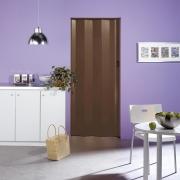 Grosfillex Falttür Una Volllamelle, (78600A56) nussbaumfarben, Klippverschluss, BxH 84x205 cm