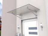 Vordach Gutta HD/V 140 (7400003), 140 cm, Edelstahl, Verbundglas 10 mm