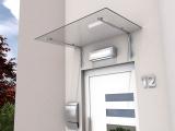 Vordach Gutta HD/L 140 (7400012), 160 cm, Edelstahl, Verbundglas 10 mm