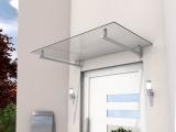 Vordach Gutta HD 160 (7200103), 160 cm, Edelstahl, Verbundglas