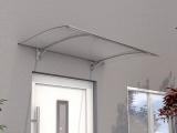 Pultvordach Gutta PT/Secco gebogen (7200303), 150 cm, Edelstahloptik