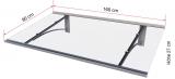 Pultvordach Gutta Typ PT/GR gerade (7200533), 160 cm, Edelstahloptik