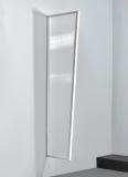 Seitenblende Gutta B1 klar 200 (7220133) weiss, 200 x 60 x 45 cm