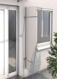 Seitenblende Gutta Acryl (7220103) für Pultvordach Typ PT/ET, 185x60x30 cm