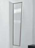 Seitenblende Gutta B1 klar 200 (7220183) Edelstahloptik, 200 x 60 x 45 cm