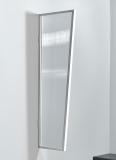 Seitenblende Gutta B2 klar 175 (7220139) weiss, 175 x 60 x 45 cm