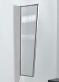 Seitenblende Gutta B2 klar 175 (7220186) Edelstahloptik, 175 x 60 x 45 cm