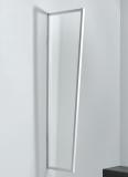 Seitenblende Gutta B1 Acryl klar 200 (7220145) weiss, 200 x 60 x 45 cm