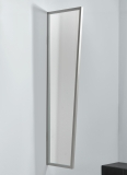 Seitenblende Gutta B1 Acryl klar 200 (7220195) Edelstahloptik, 200 x 60 x 45 cm
