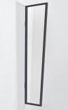 Seitenblende Gutta B1 Acryl klar 200 (7220201) anthrazit, 200 x 60 x 45 cm