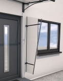 Seitenblende Gutta Acryl (7220207) für Pultvordach Typ PT/GR, anthr., 185x60x30 cm