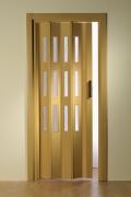 Falttür Luci mit 3 Fensterreihen, eichefarben hell, BxH 88,5x202 cm