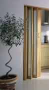 MARLEY Falttür New Generation, (035918)Fenster türkis-satiniert, buchefarben, BxH 86x205 cm