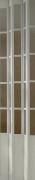 Zusatzlamelle für Falttür President mit Fenster eschefarben weiß BxH 14x205 cm