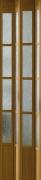 Zusatzlamelle für Falttür President mit Fenster eichefarben, BxH 14x205 cm