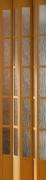 Zusatzlamelle für Falttür President mit Fenster buchefarben, BxH 14x205 cm